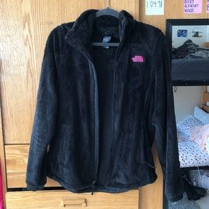 Black north face zip up